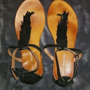Lucky Brand fringe sandal size 10